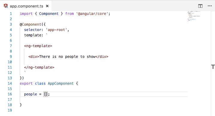 Directiva Angular ng-template
