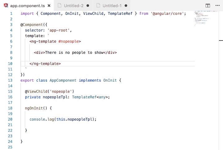 Referencias de templates de Angular en nuestra clase de componente
