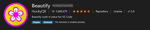 Visual Studio Code plugin Beautify
