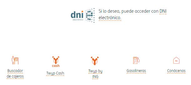 En la web del DNI electrónico, las opciones incluyen texto y logo para identificarlos mejor