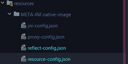 Archivos JSON creación imagen nativa GraalVM
