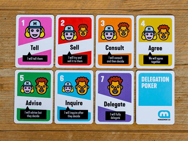 Cartas para implementar Delegation Poker.
