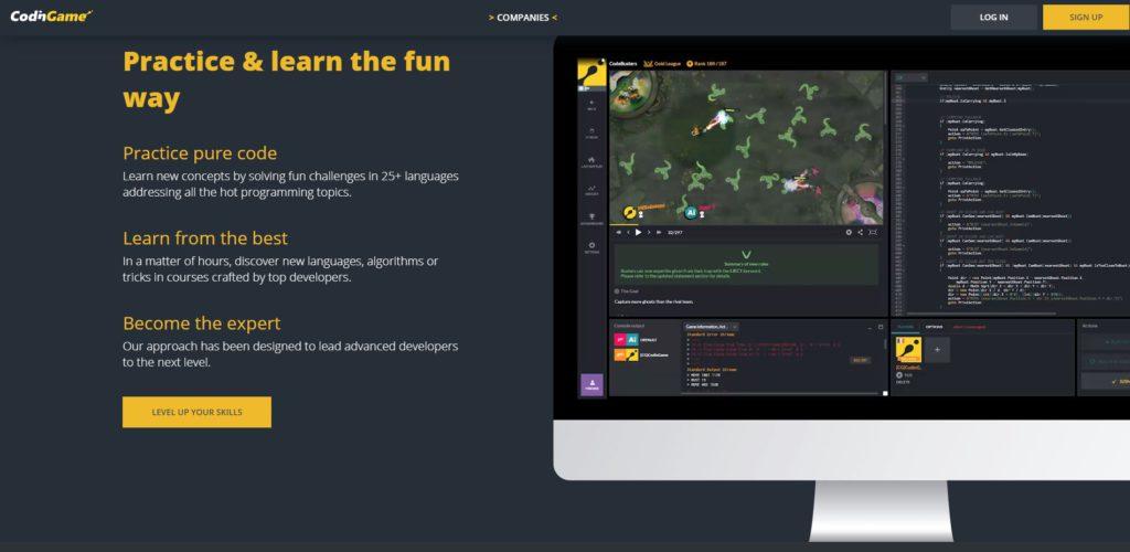 Videojuegos para aprender a programar: CodingGame