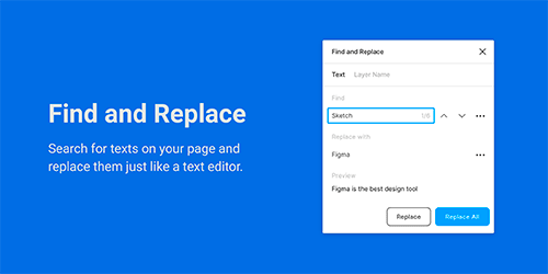 Find and Replace Plugin Figma