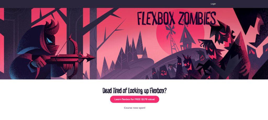 Videojuegos para aprender a programar: Flexbox Zombies