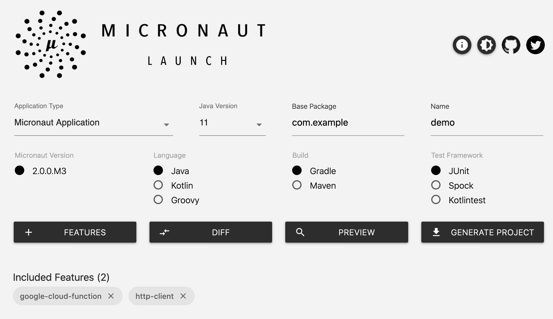 Micronaut launch