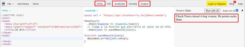 Mostrar el valor de la propiedad en el HTML