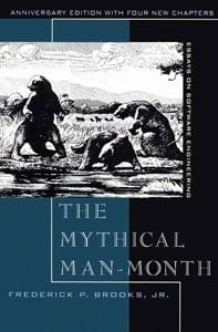 Portada de The Mythical Man-Month, esencial para desarrolladores y programadores