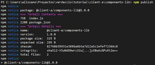 Npm publish Verdaccio