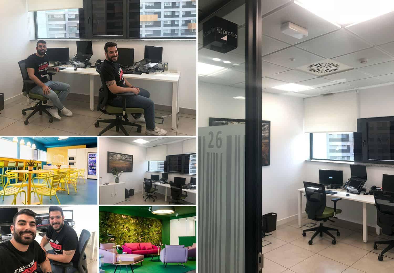 Compañeros de Profile en la oficina de Sevilla