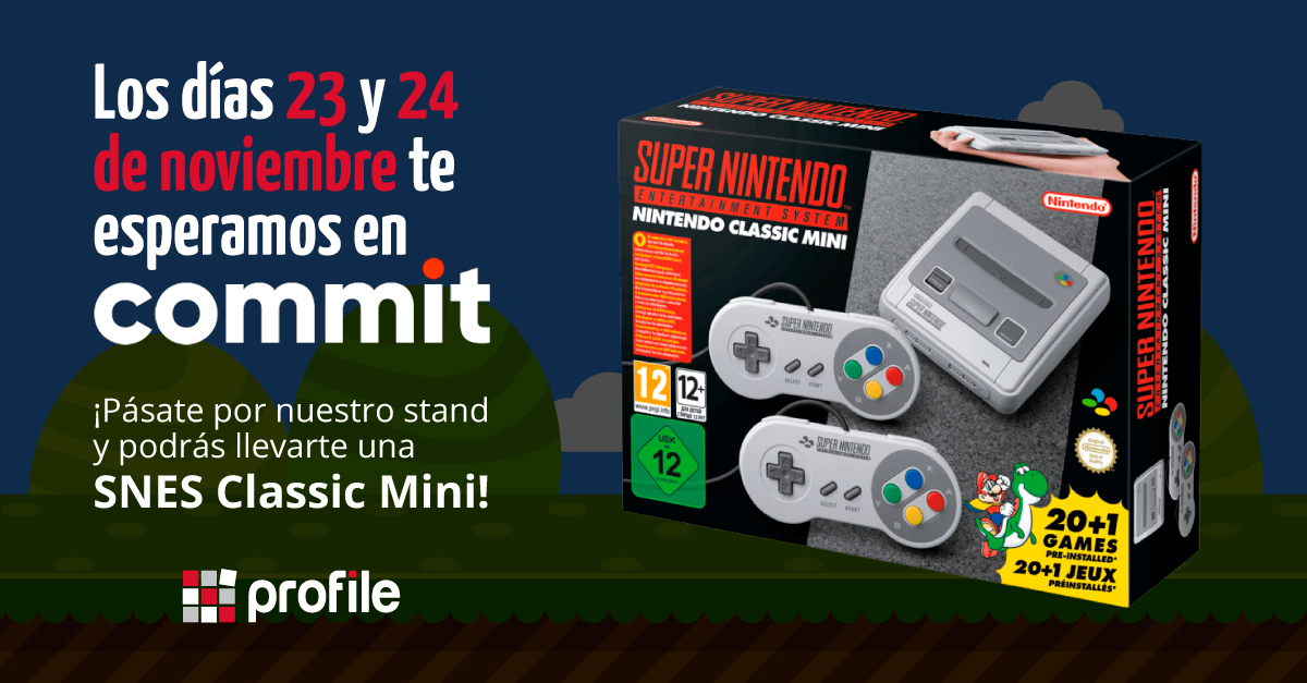 Promo sorteo SNES mini Commit