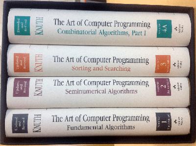 Libros para programadores: Volúmenes de The Art of Computer Programming