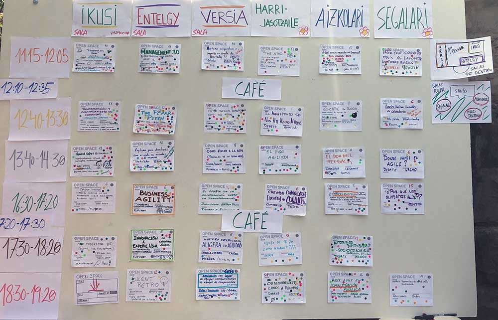 Agenda del evento open space: AOS 2019