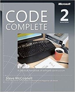 Portada del libro de programación, Code Complete, de Steve McConnell