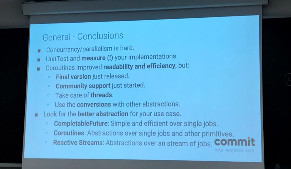 Conclusiones de la charla