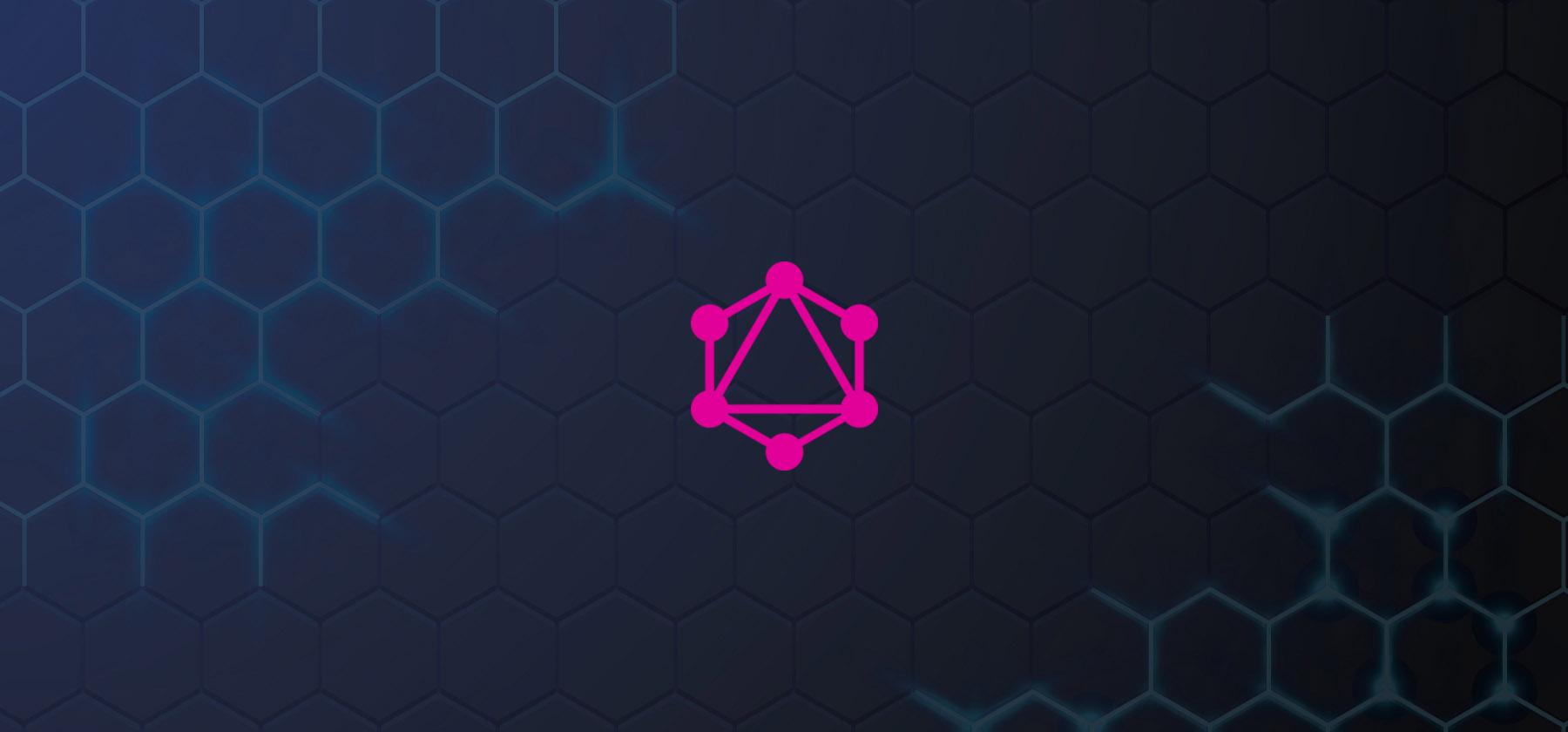 GraphQL: una alternativa a Rest. Logo de GraphQL sobre fondo oscuro