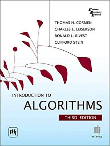Libros para desarrolladores y programadores: Portada de CLRS o Itroduction to Algorithms