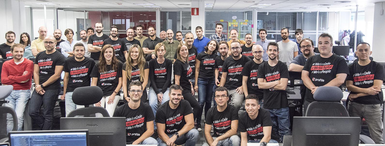 Equipo humano de Profile en la oficina de Madrid