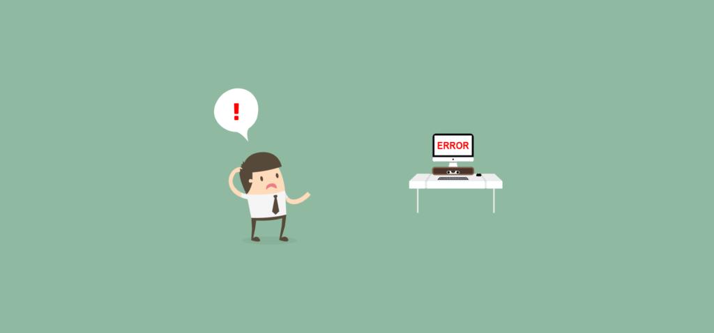 usuario confuso por un error de usabilidad en la web