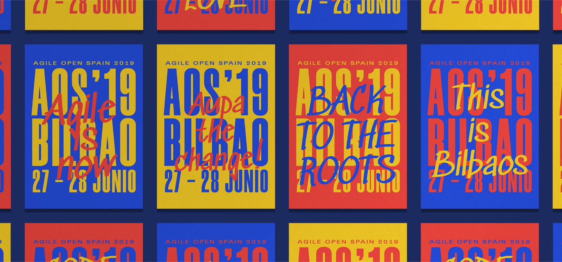 Cartel del evento Agile Open Spain - AOS2019